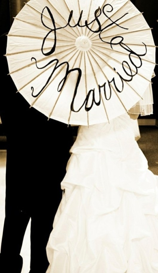 Detalle boda just married