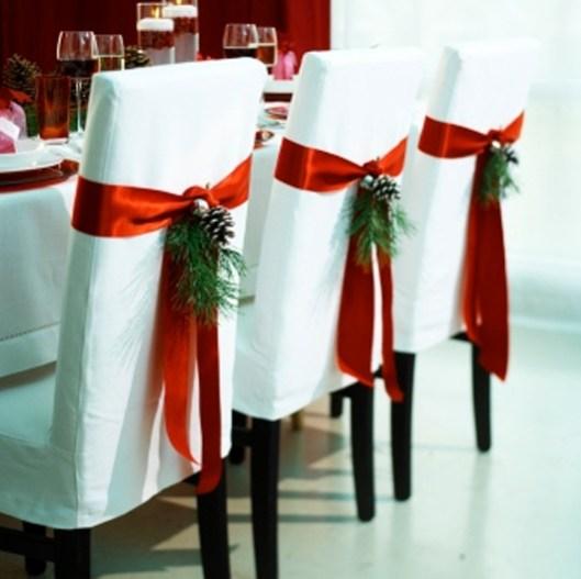 Decoración sillas para navidad