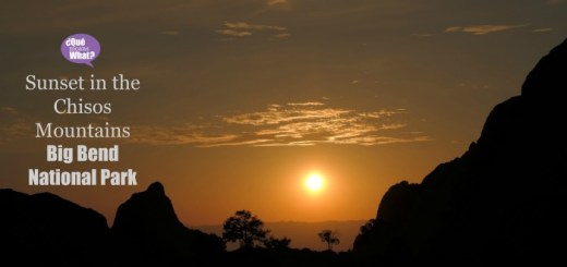 Sunset Chisos Mountains Big Bend National Park QueMeansWhat
