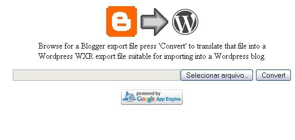 blogger para wordpress
