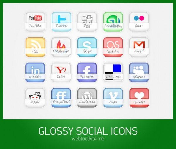 icones, redes sociais, psd, pack