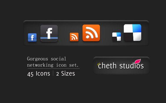 icones, redes sociais, pack