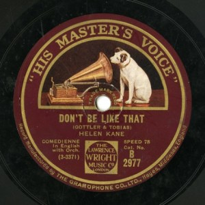 GB HMV B 2977 HELEN KANE GOTTLER&TOBIAS DON'T BE LIKE THAT/MONACO ME AND THE MAN IN THE MOON