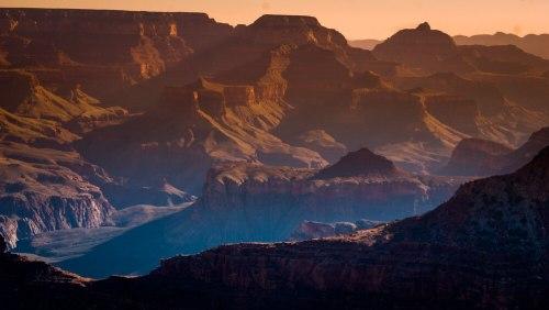 Atardecer en el Gran Cañón del Colorado