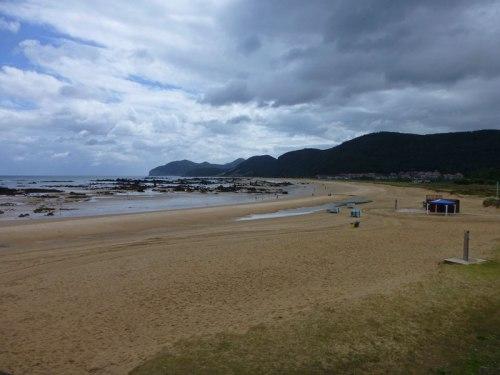 Playa de Trengandín en Noja durante la bajamar