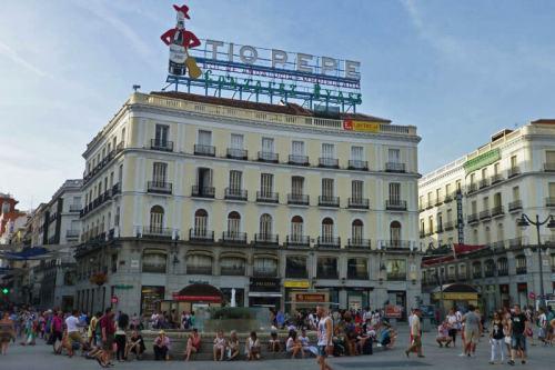 Cartel del Tío Pepe, uno de los símbolos de la Puerta del Sol de Madrid