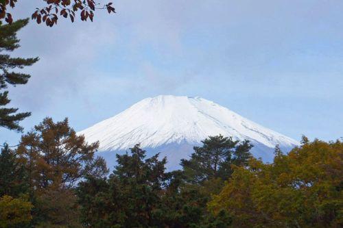 Cumbre nevada del Monte Fuji
