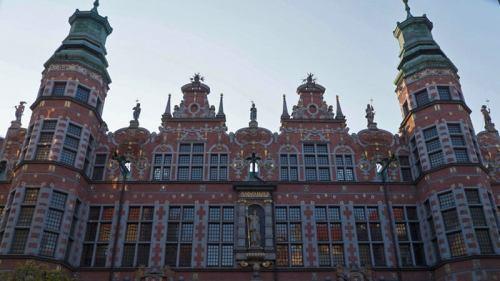 Fachada principal del Gran Arsenal de Gdansk