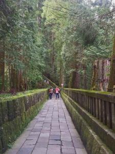 Sendero al Santuario Futarasan en Nikko