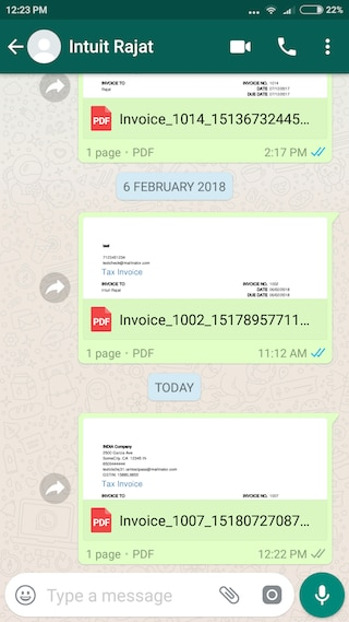 Share estimates and invoices with your customers on WhatsApp     Send estimates and invoices on WhatsApp