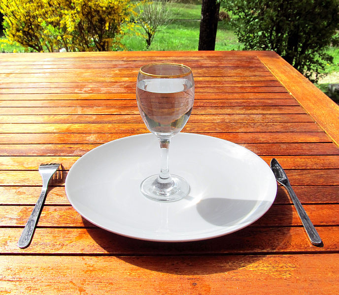 688px-Fasting_4-Fasting-a-glass-of-water-on-an-empty-plate