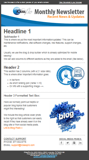 Monthly Newsletter Template MC