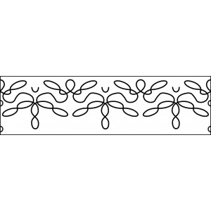 6 inch lace quilting template
