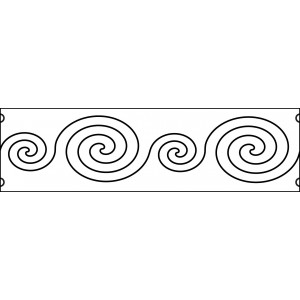 6 inch swirls quilting template