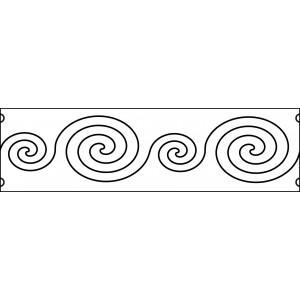 6 inch swirls quilting template