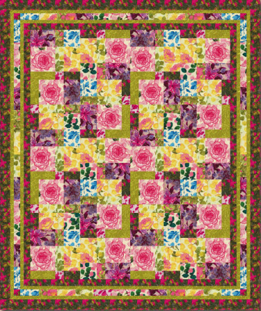Quilt Patterns With Floral Fabric : Free pattern: Floral Impressions quilt Quilting