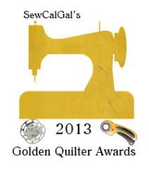 SewCal Gal Golden Quilter Award