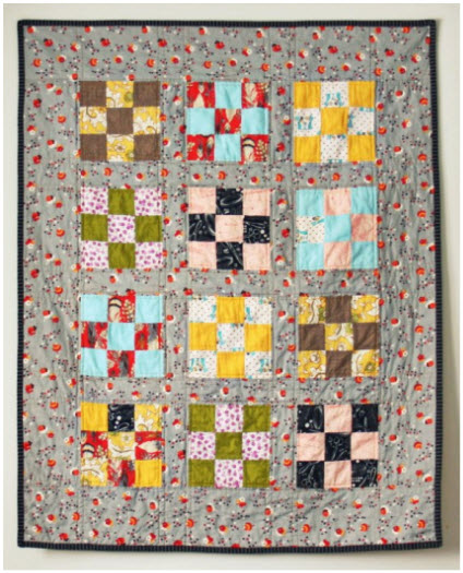 Simple nine patch quilt