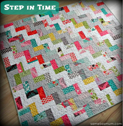 Step in Time quilt tute