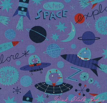 Fabric swatch out of this world quilting for Kids space fabric