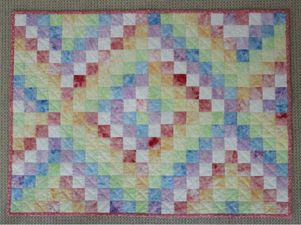 shaving foam painted fabric quilt tutorial