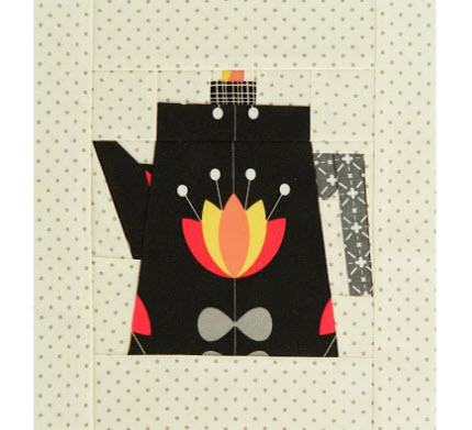 coffee pot paper pieced