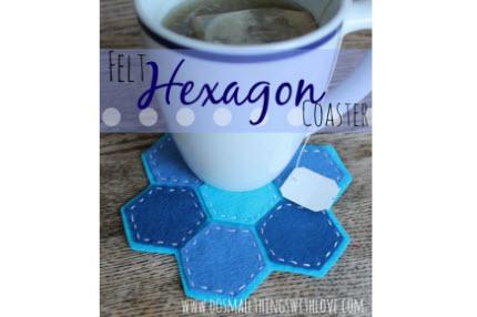 Felt Hexagon Coasters