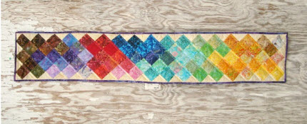 Sochi Olympics inspired table runner