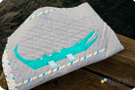 folded alligator quilt Louise Wackerman