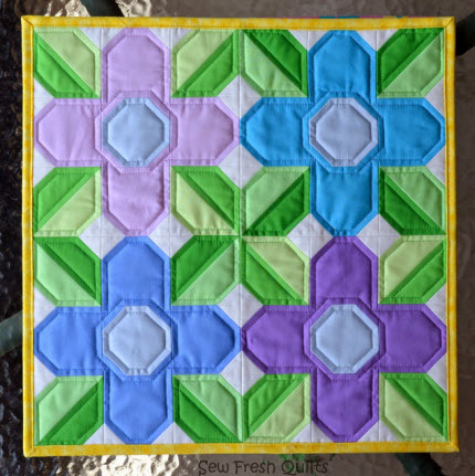 Pretty Posy quilt block pattern