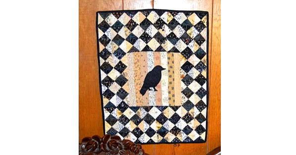 Halloween Parlor quilt Raven