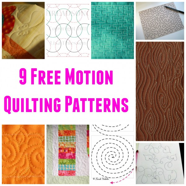 Simple Free Motion Quilting Patterns : 9 Free Motion Quilting Patterns Craft Gossip Bloglovin