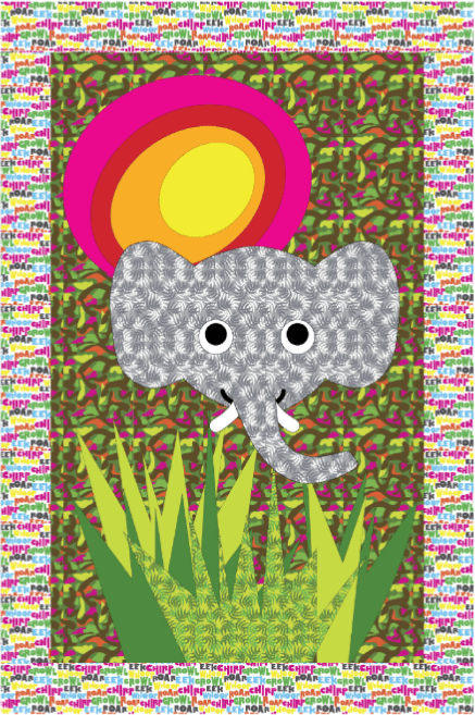 ElephantWallHangingFreePatternWindham