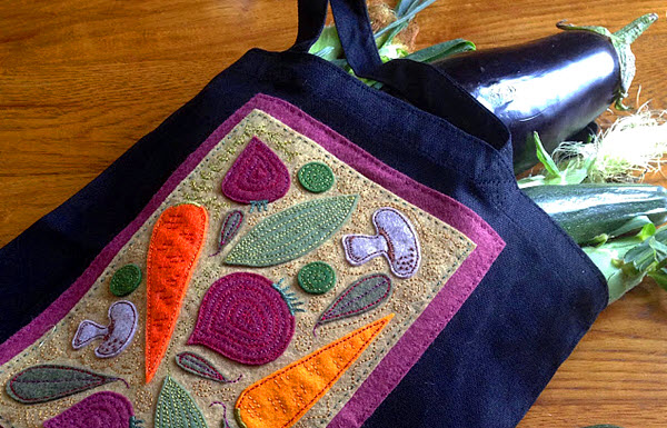 Farmer's Market Tote Applique Pattern