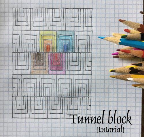 Tutorial Tunnel quilt block
