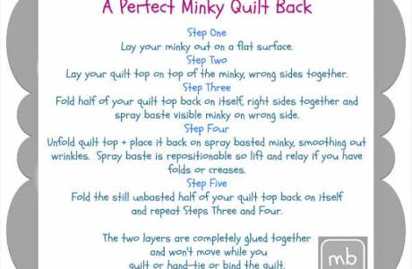 Tutorial: Perfect Minky Quilt Back