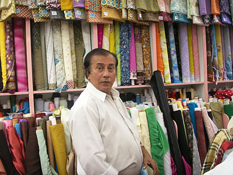 A farbic shop in Dubai