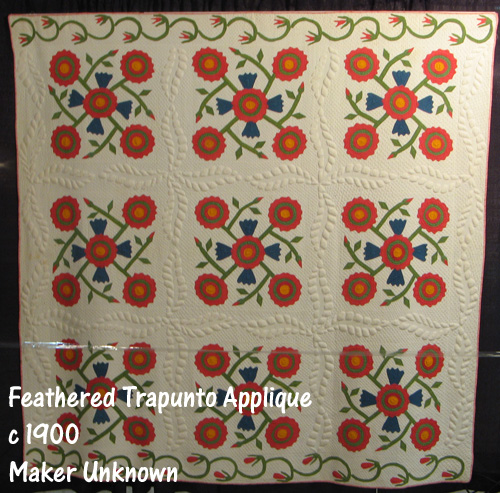 Feathered Trapunto Applique