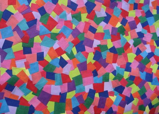 mosaic fabric - close up