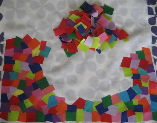 mosaic fabric - making progress