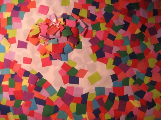 mosaic fabric - more progress
