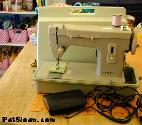 pat sloan old sewing machine and case