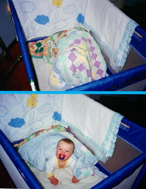 Jacob under his quilt