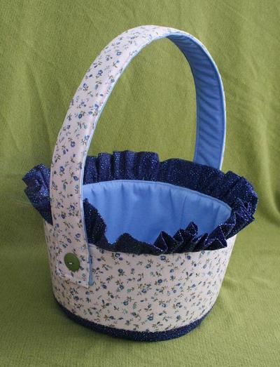 Ruffled Fabric Basket