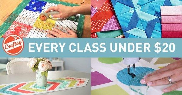 Under $20 Craftsy Class Sale