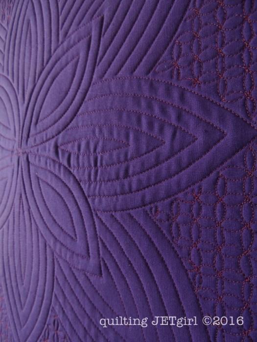 Purple Passion - Quilting Detail