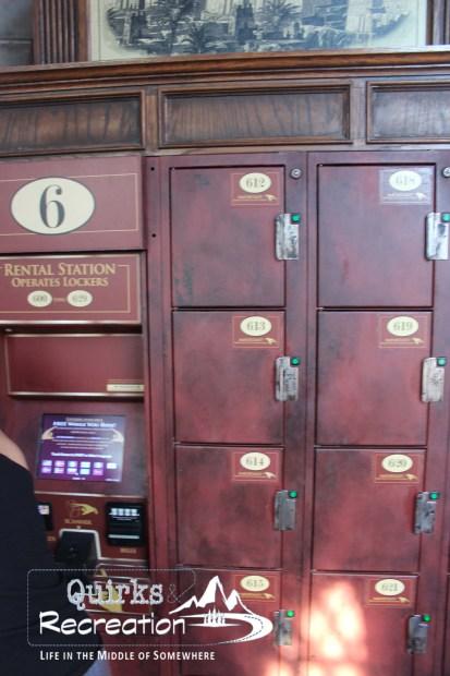 Lockers for ride storage - Islands of Adventure, Universal Orlando