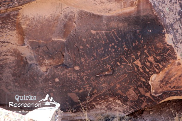 Newspaper Rock petroglyphs at Petrified Forest National Park