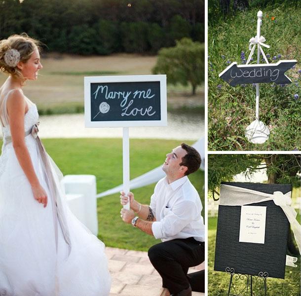 Blackboard ideas for weddings