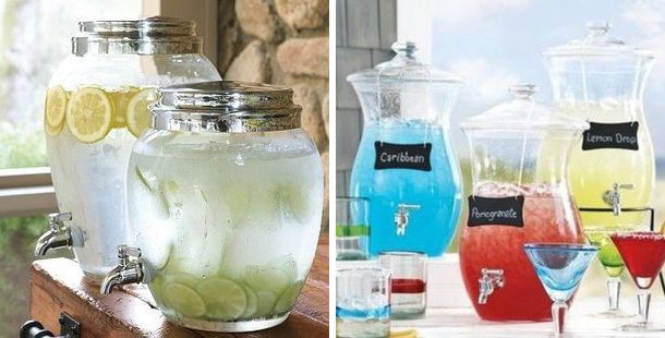 Glass drinks dispenser with tap for hire _ Quirky Parties